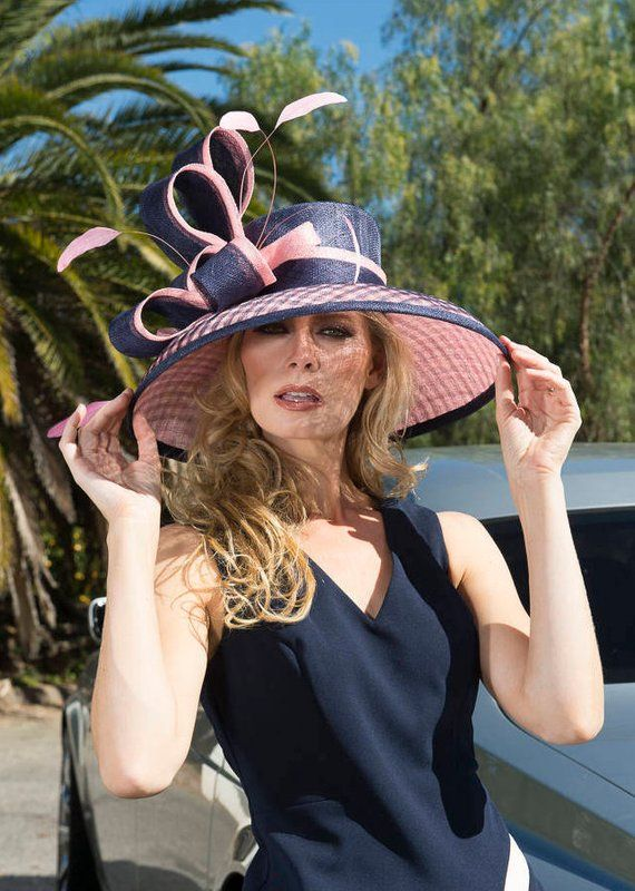 76876b3542a 2018 collection. Kentucky Derby hat. Derby hat. Royal Ascot hat. couture hat.  Designer hat. Wedding hat Navy hat. Pink hat. women hat