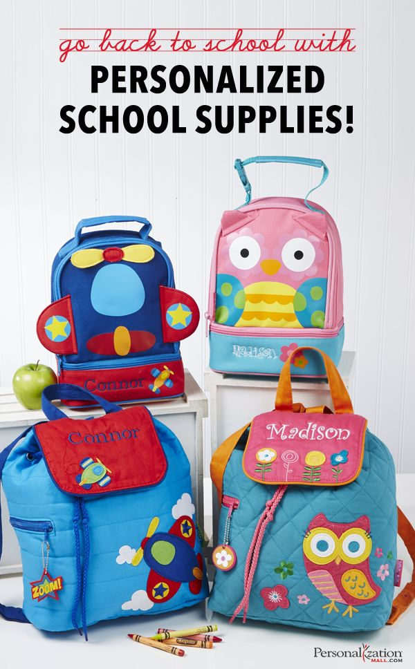 Send your kids back to school in style with personalized school supplies from Personalization Mall. Add your child's name to folders, notebooks, school bags, pencil cases and more. Discover a wide range of personalized school supplies today at PersonalizationMall.com.