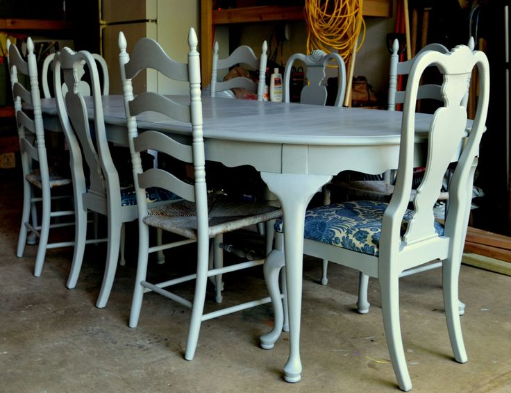 Table And Chairs Painted In Chalk PaintR By Annie Sloan
