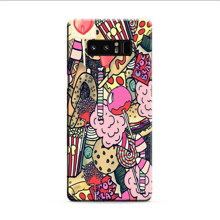 Lolipop And Ice Cake Samsung Galaxy Note 8 3D Case