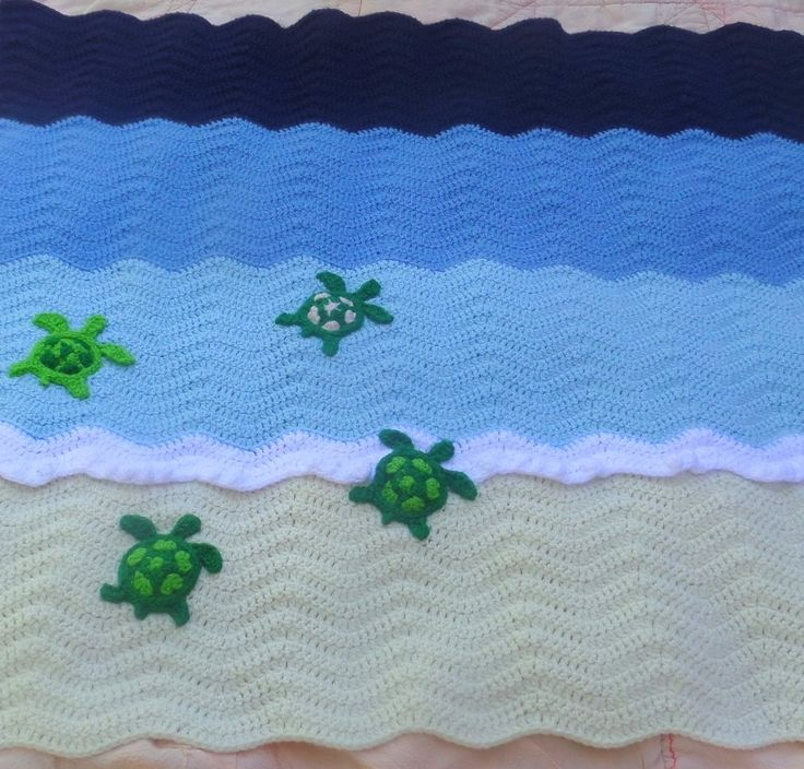Tunisian Crochet Patterns Baby Free : sea turtle crochet ocean baby blanket - I need this in my ...