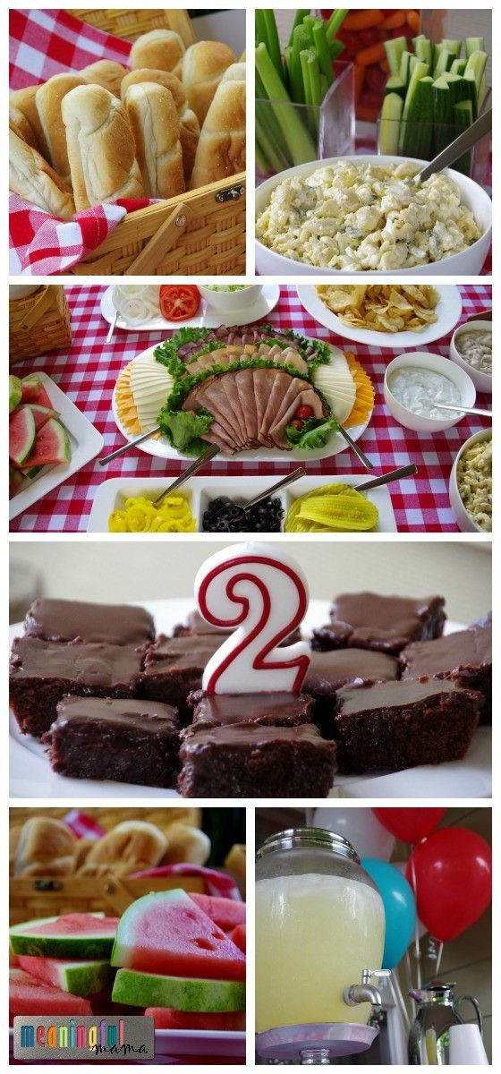 Food for a Picnic Party Theme - 2 Year Old Birthday Party Ideas