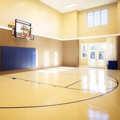 25 best ideas about indoor basketball court on pinterest for Indoor basketball court design