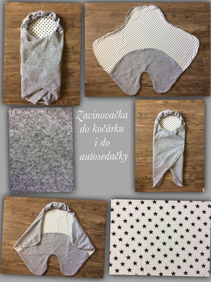 Zavinovačka do kočárku či autosedačky šitá z úpletu a svetroviny