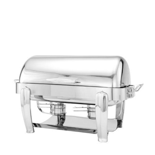 Walco Hallmark Collection Oblong Full Roll 8-Quart Chafer, Chrome Handle and Legs by Walco. $1312.49. Dripless wide-rim water pan. Opens full 180 degrees. Dripless channel in cover. Automatic tension control. Cover pops off for easy cleaning. Walco Hallmark Collection oblong full roll chafers are a staple in the commercial hotel industry. Made from the heaviest gauge 18/10 stainless steel, with a chrome handle and chrome legs, the elegant roll top cover opens ...