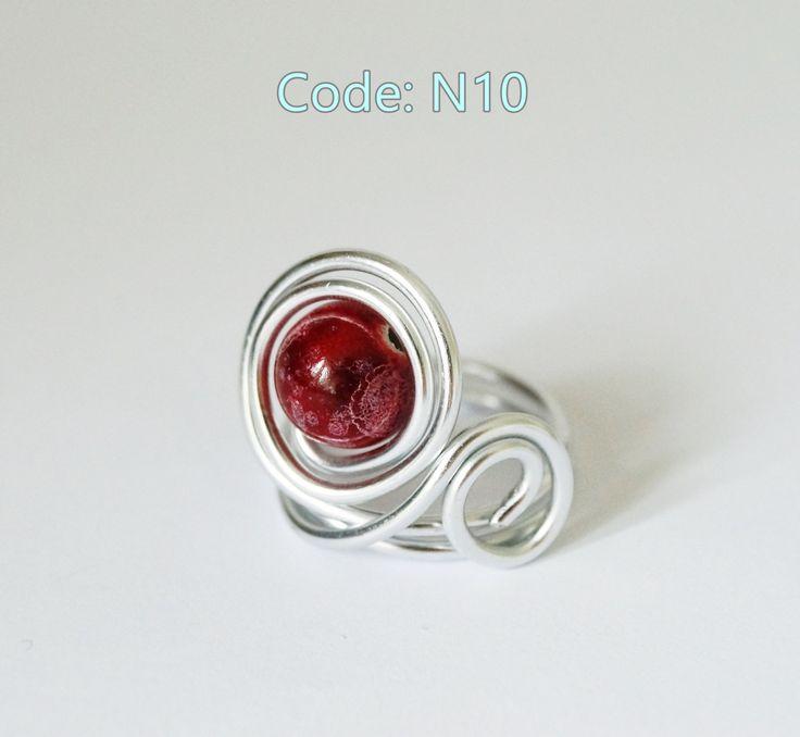 Red eye ring - Code: N10 by Nananbox on Etsy
