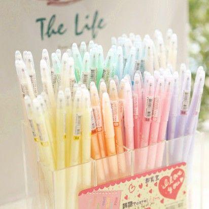 Pastel colouring pens
