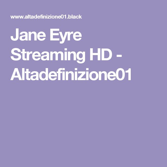 Jane Eyre Streaming HD - Altadefinizione01