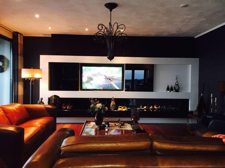 complete wand meubel met gashaard en verborgen tv nis