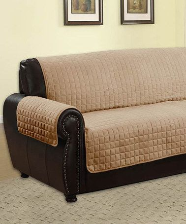 This Tan Sofa Protector by Kashi Enterprises is perfect! #zulilyfinds