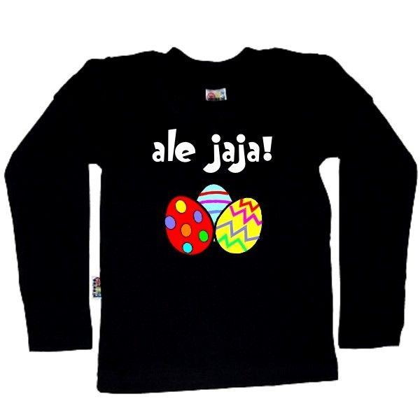 Koszulka dziecięca z długim rękawkiem - ale jaja! z FamilyInBlack.pl