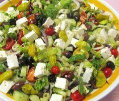 Large Greek Salad. Serves 10 to 15 people.