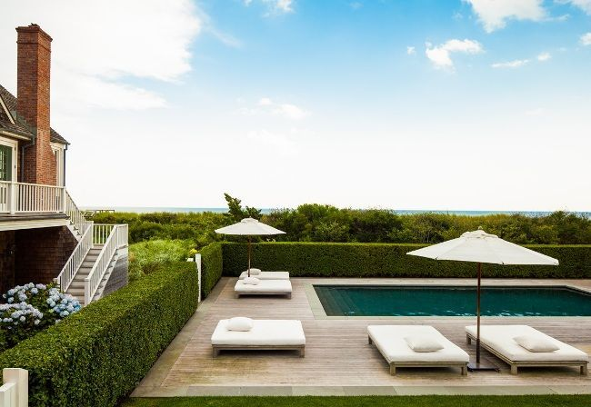 Timber deck, pool and lounge seating