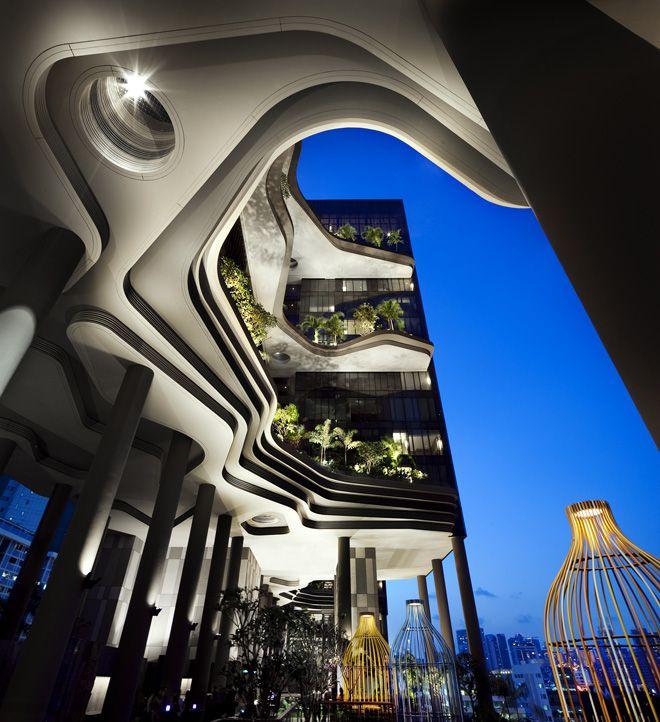 Hotel Parkroyal, Singapour Architecte Woha