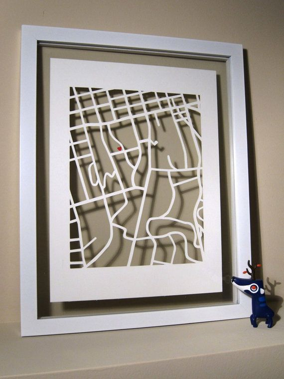 UGA Matted University of Georiga Hand Cut Map by themadmapper, $62.00