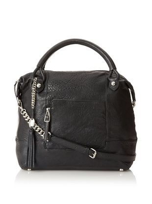 Olivia Harris Women's Zip Pocket Revamped Satchel