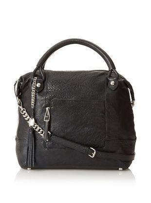 Olivia Harris Women's Zip Pocket Revamped Satchel
