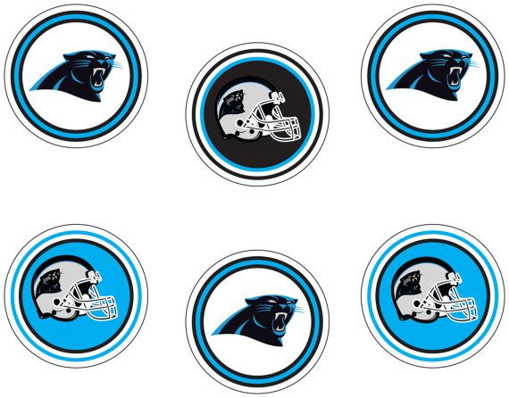 Carolina Panthers printable tags. Easy Party decorations for Panther fans. Immediate download for Panther Playoffs decor and decoration