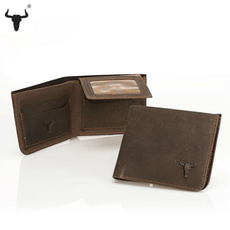 Men's Genuine Leather Vintage Crazy Horse Cowhide Wallet - Pick Pay Post