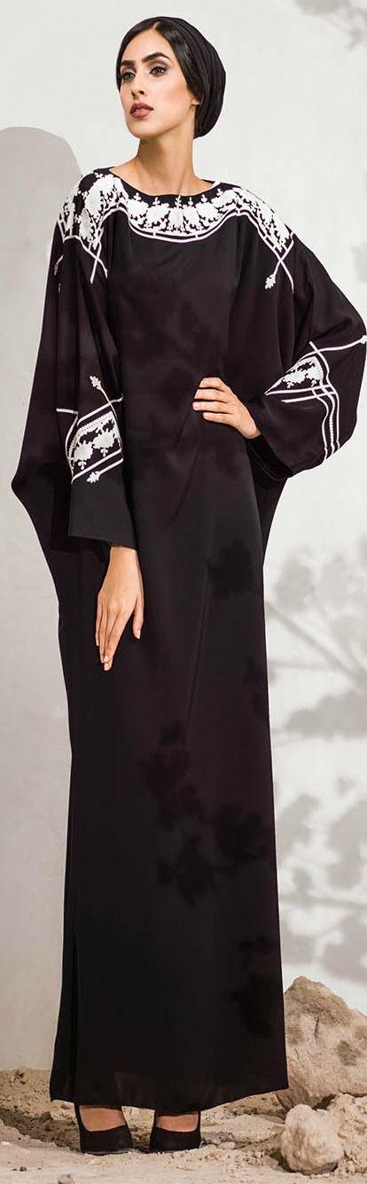 Mauzan abaya Dubai.Laser cut designs and Applique Design Array