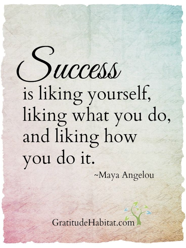 Love this definition of success.  Thank you, Maya Angelou.  Visit us at: www.GratitudeHabitat.com