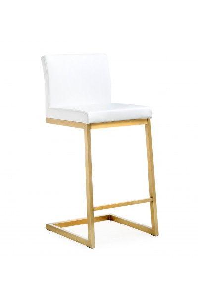 Parma White Gold Steel Counter Stool Tov K3666 Tov Furniture