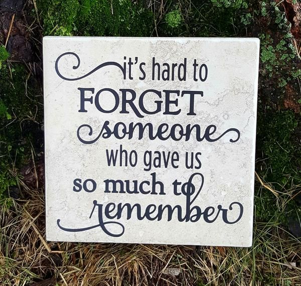 """This 6"""" x 6"""" ceramic tile makes a beautiful tribute to a loved one. Consider adding a name and/or date to the bottom of the tile for a custom memorial. Our til"""