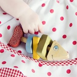 Make sure your child grows in a creative environment with handmade wooden toys (photo via Friendly Toys)