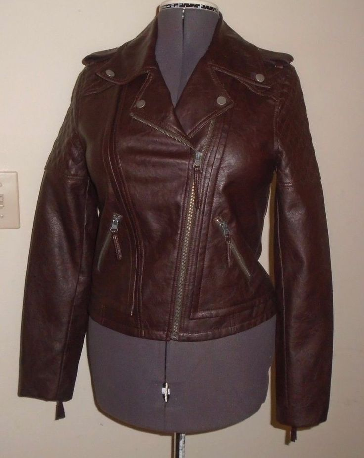 G-III Brown Leather Moto Jacket Prototype Production Sample Size Small OOAK NEW #GIII #Motorcycle