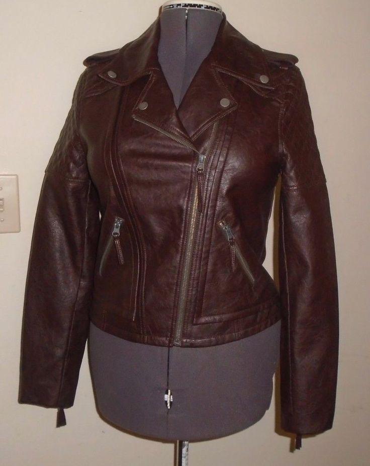 G-III Brown Leather Moto Jacket Prototype Production Sample Size Small OOAK NEW #GIII #Motorcycle