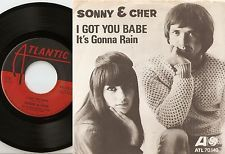 SONNY AND CHER I GOT YOU BABE & IT`S GONNA RAIN SWEDISH 45+PS 1965 BEAT MOD SOUL