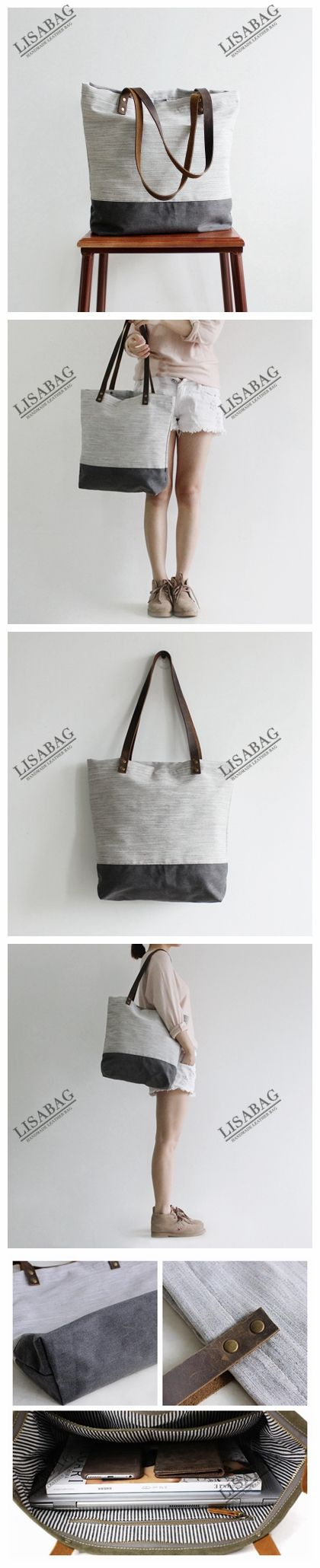 Handcrafted Canvas Tote Bag Shopper Bag Women's Fashion Handbag Gym Bag 14040--LISABAG