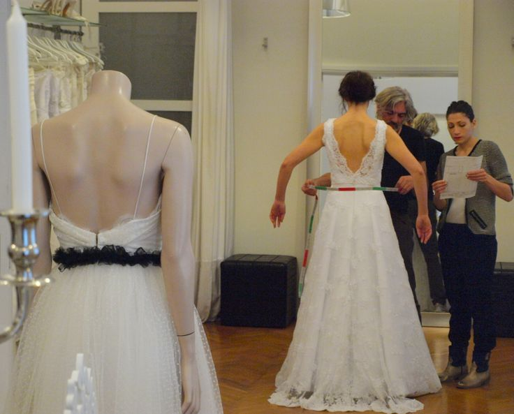 Fitting appointment at atelier Konstantinos Tsigaros