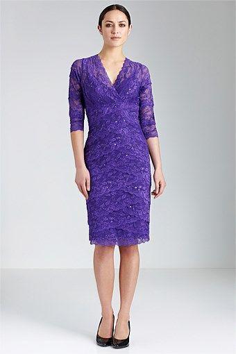 Dresses - Grace Hill 3/4 Lace Layered Dress - EziBuy New Zealand