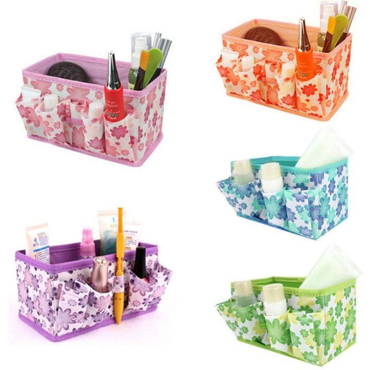 Neue Qualified aufbewahrungsbox New Make-Up Kosmetische Aufbewahrungsbox Beutel Hell Veranstalter Faltbare Stationäre Container dig634