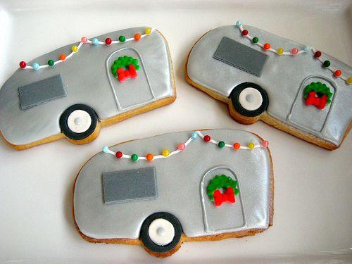 Vintage Christmas Camper Cookies