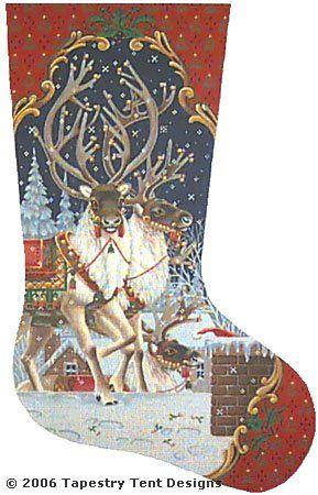 Penn's needlepoint stocking.  Looks a lot like Piper's pattern.