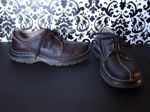 Dr DOC Martens Men's Casual Oxfords Size 8 us 7 UK Brown Leather Lace-Up Shoes  #DrMartens #Oxfords