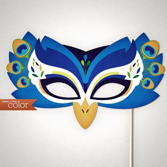 DIY Printable Peacock Mask