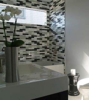 Modwalls 2x8 American made ceramic subway tile in Milk white, Brine gray and Licorice black matte. www.modwalls.com