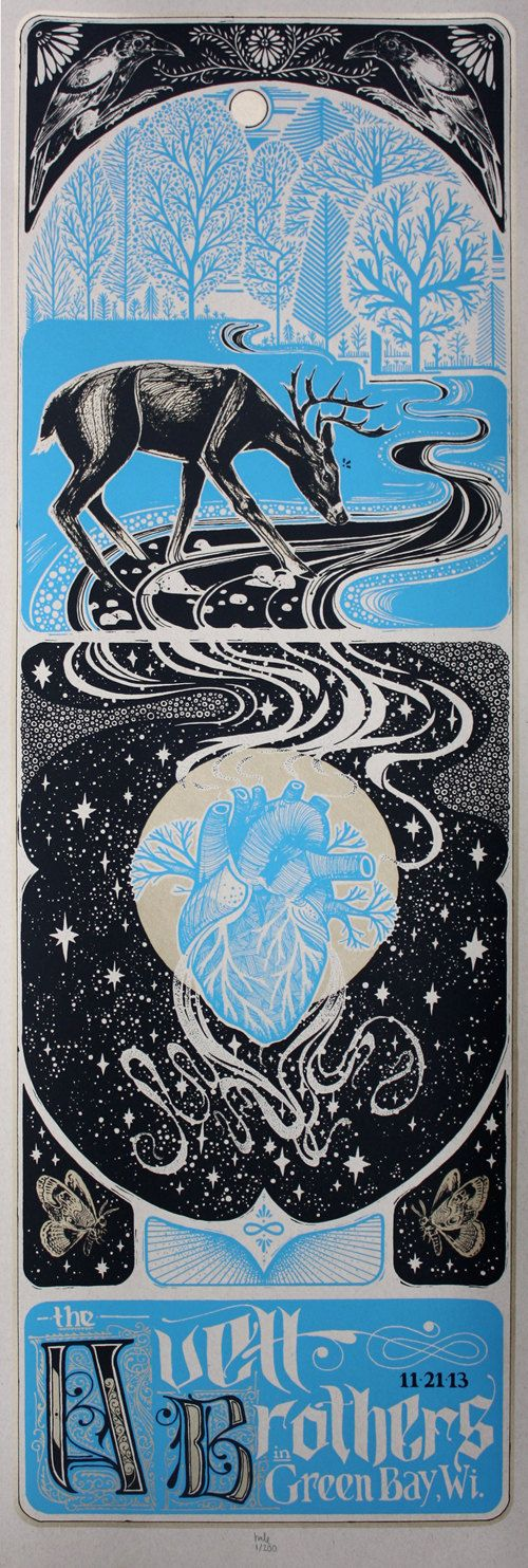 Avett Brothers Show Poster / Green Bay WI by LoveHawk on Etsy, $40.00