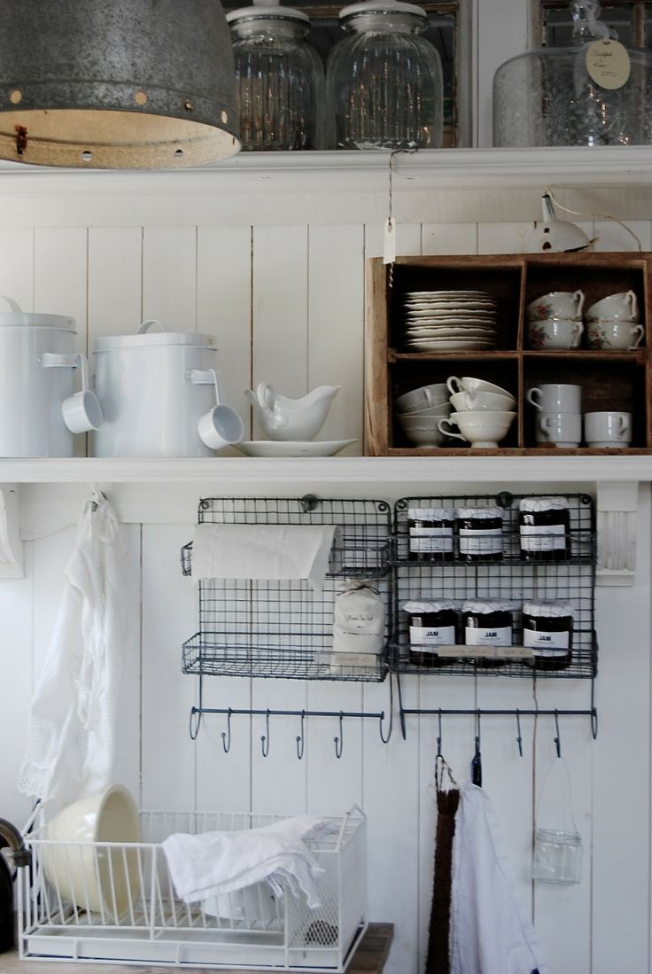 1590 best shabby chic kitchens images on pinterest for Country kitchen storage ideas