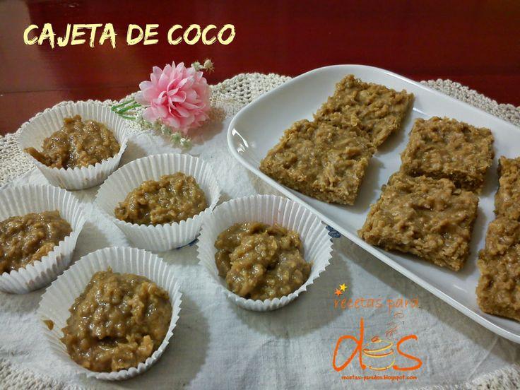 Cajeta de coco, un antojito tradicional que consumimos durante todo el año.