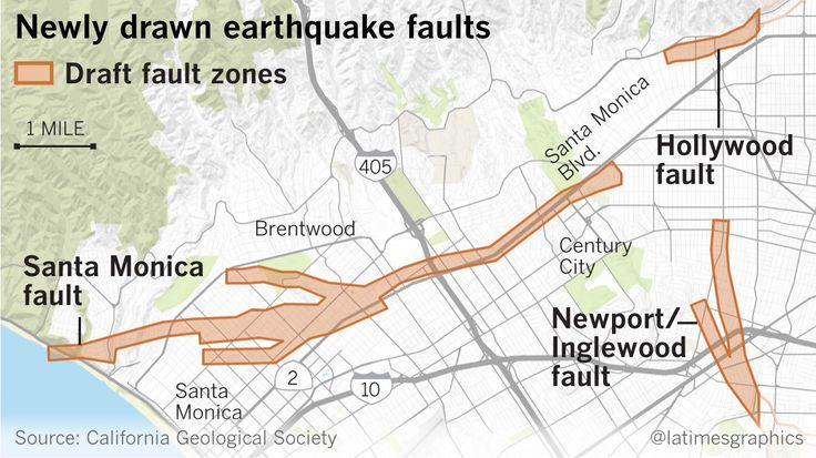 Earthquake Fault Maps For Beverly Hills Santa Monica And Other Westside Areas Could Bring Development Restrictions Earthquake Fault Santa Monica Earthquake