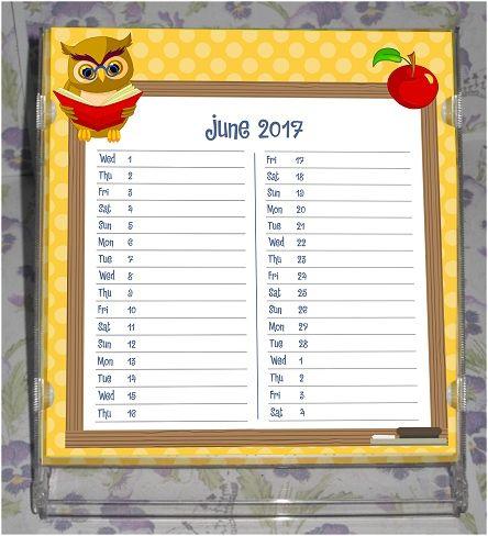 Free Printable 2017 CD Case Desk Calendar