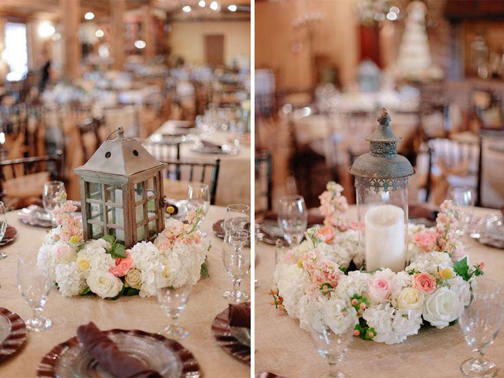 wedding centerpiece flowers candles lanterns - Google Search