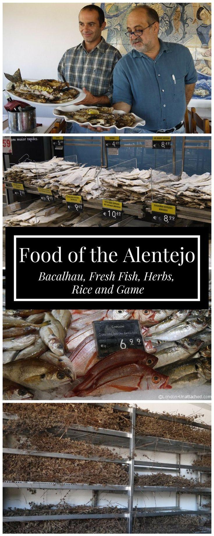 Food of the Alentejo - Bacalhau, Fresh Fish, Pennyroyal and Game   Alentejo Coast   Alentejo Seafood   Alentejo Bacalhau   Portugal Food   Portugal Seafood