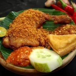 Ayam Penyet Pedas (Spicy Penyet Chicken)