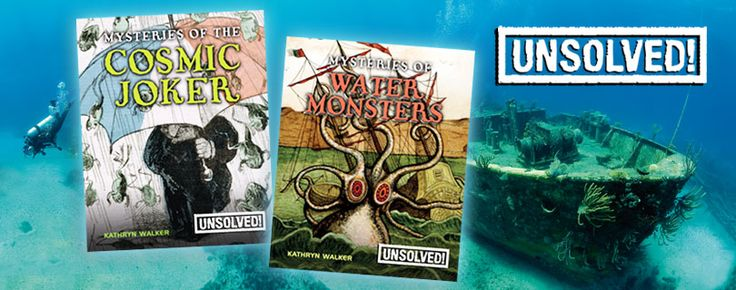 Unsolved series (Crabtree Publishing)_ Easy-to-read text and colorful pictures bring to life the strange and wonderful stories about the power of pyramids, raining frogs and fish, the lost city of Atlantis and other unsolved mysteries. Every title contains fun, engaging stories for students who are reluctant to read, working towards increasing their interest in books. Grades 3-6