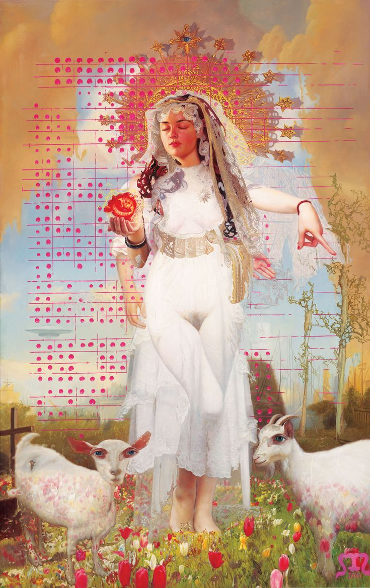 """""""White Womb"""", painting by Menunana.  Visit Art Galaxie to see more of his works:"""
